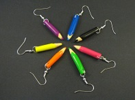 Boucles fantaisie crayon de couleurs